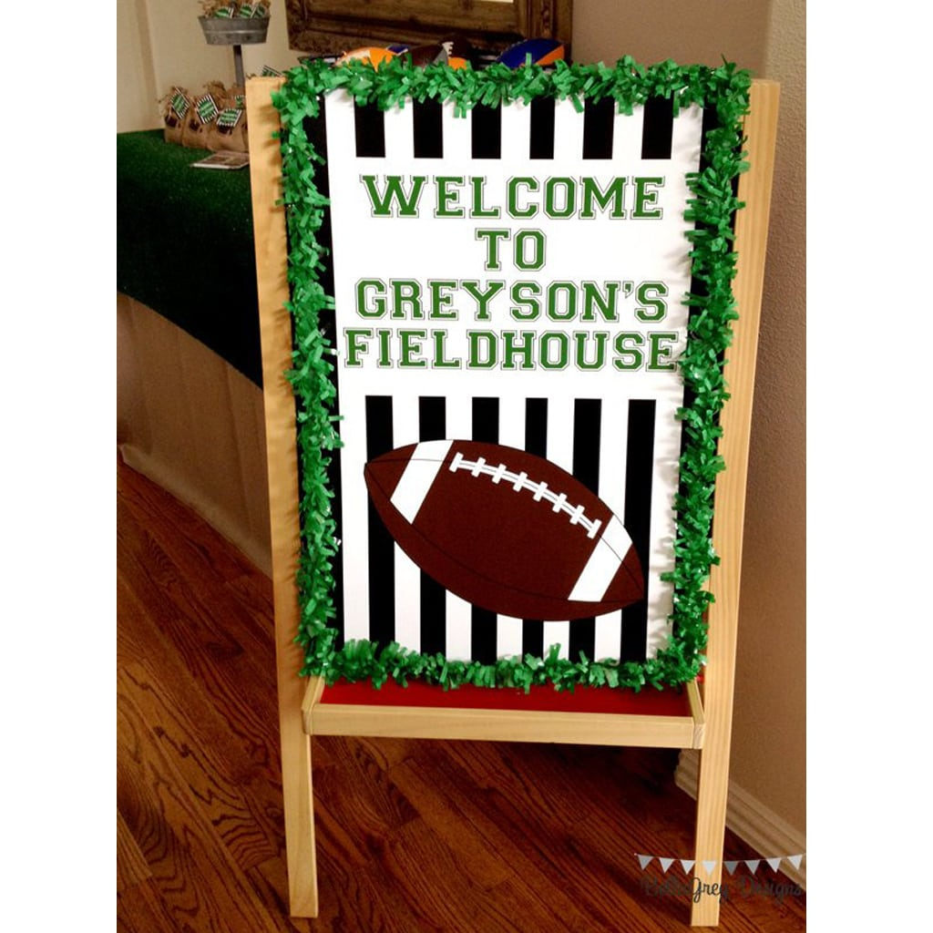 welcome sign for Football Party by BellaGrey Designs