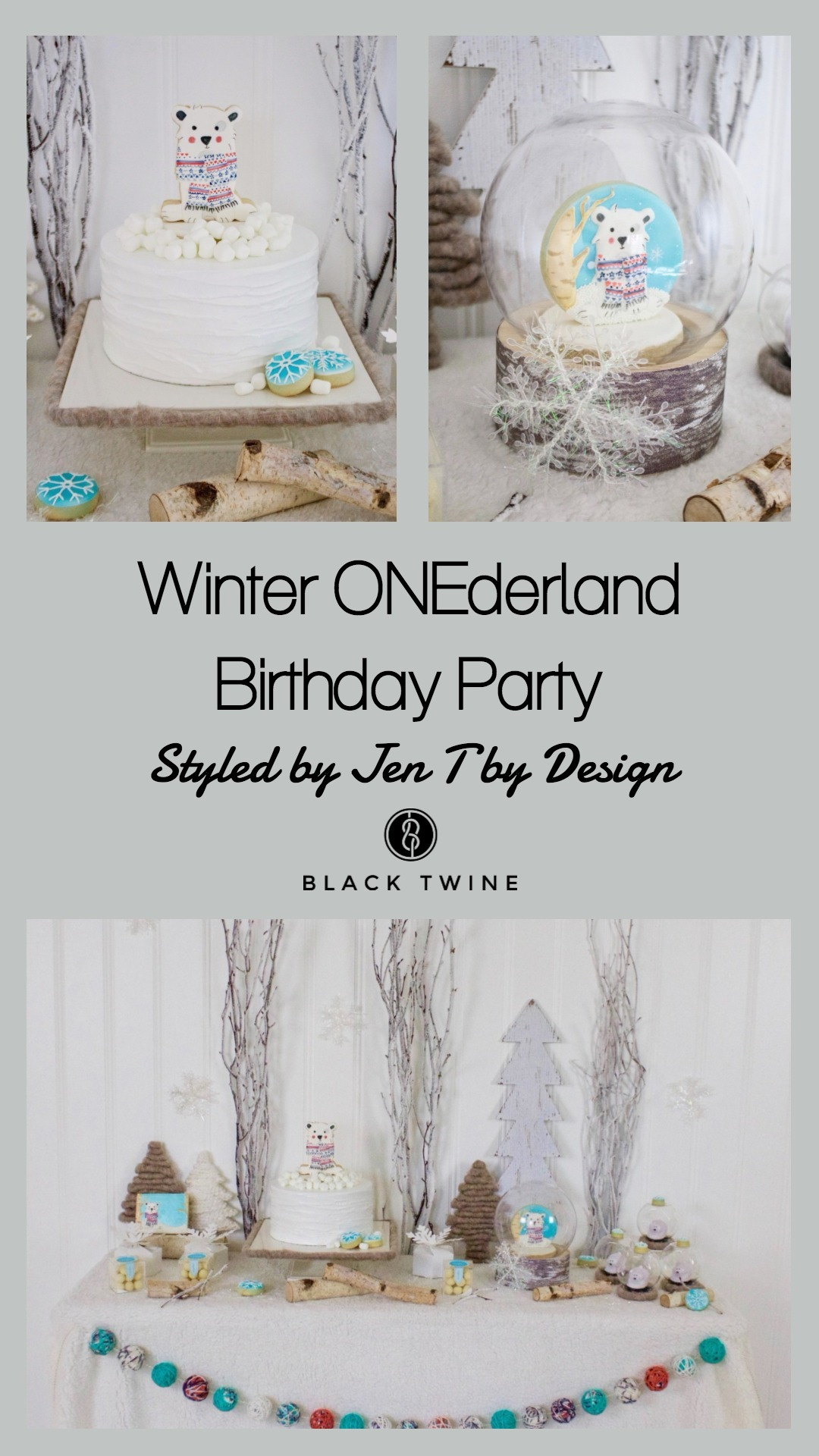 Winter Onederland Party by Jen T by Design | Black Twine