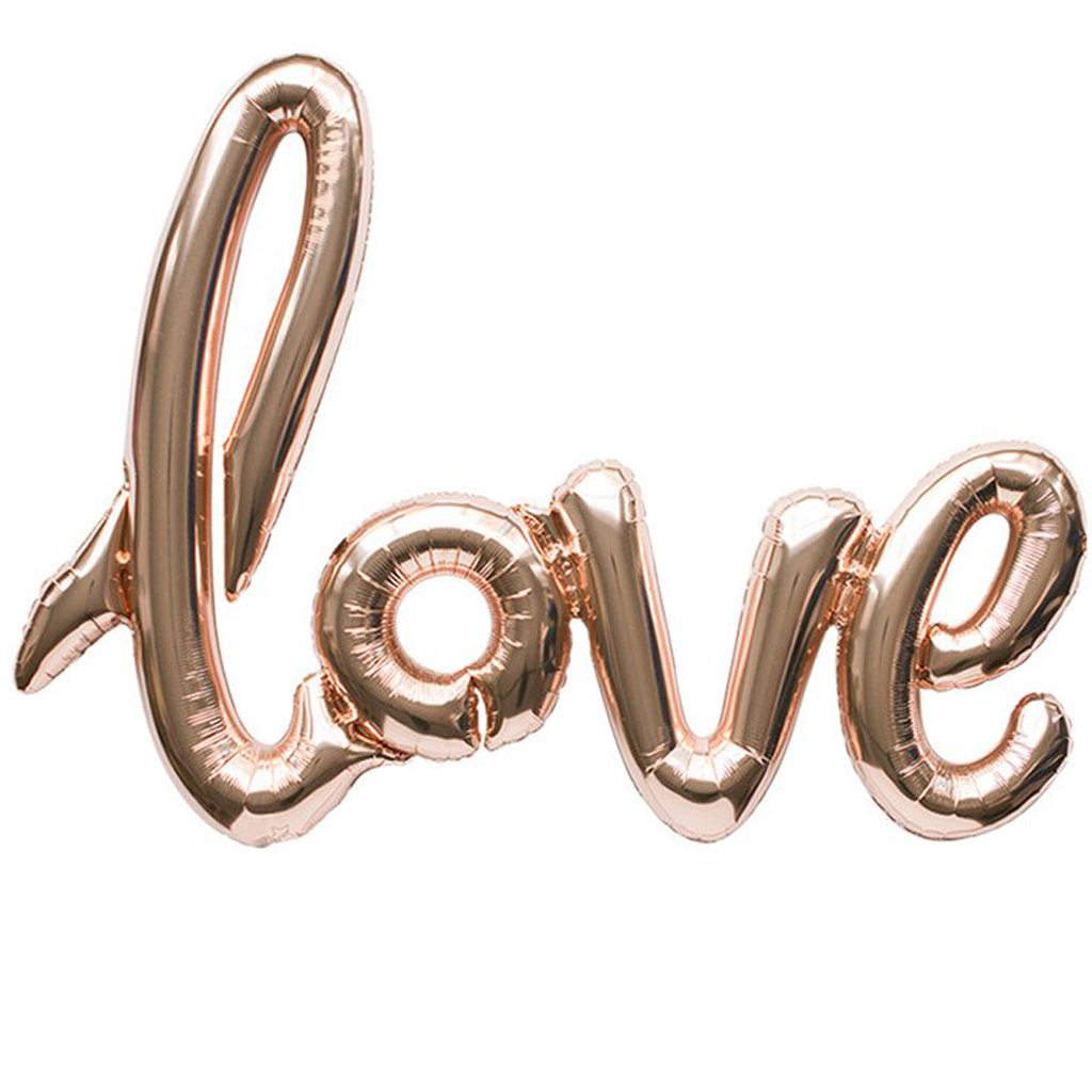 """Love"" Script Mylar Balloon by Northstar Balloons"