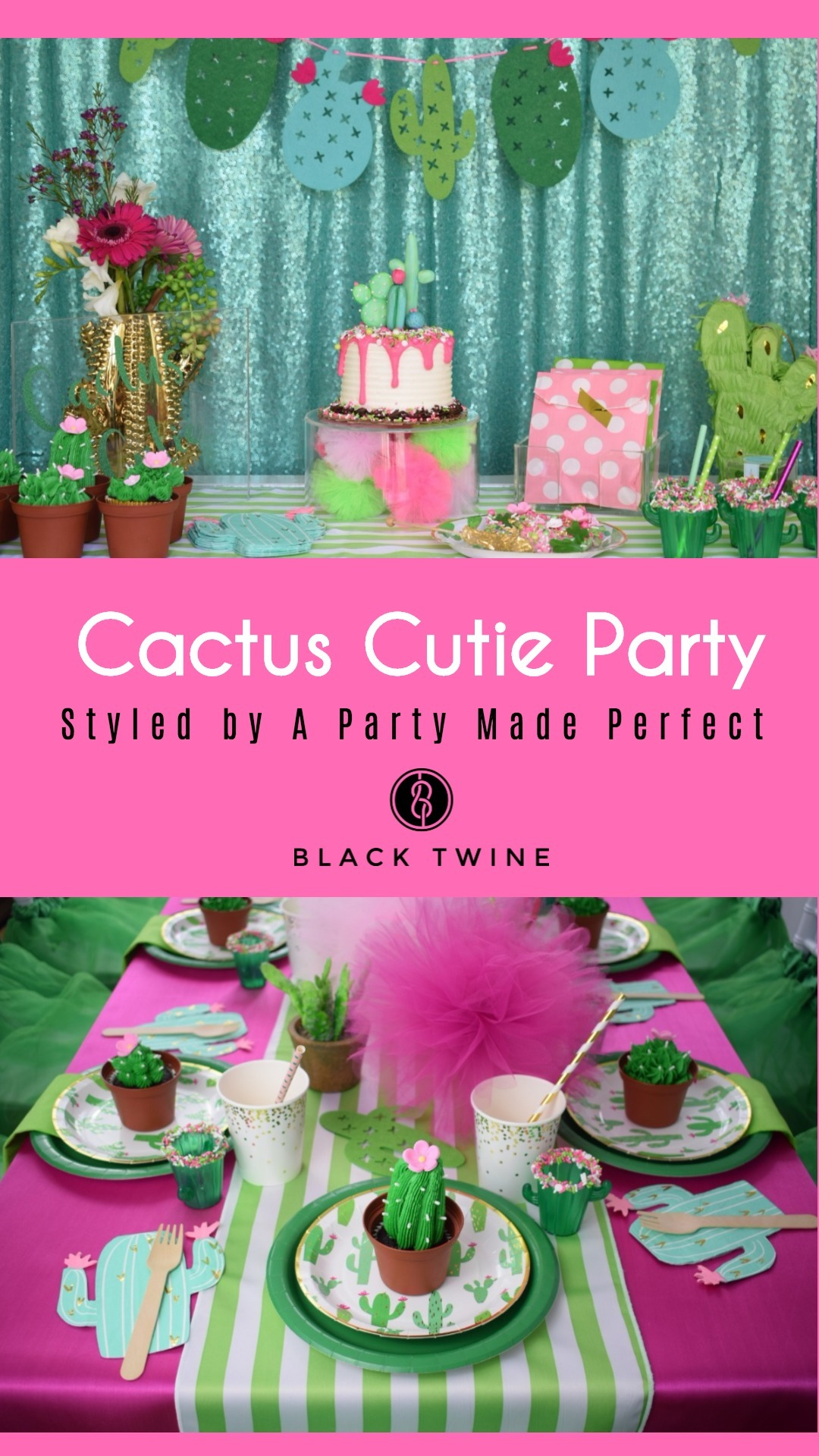 Cactus Cutie Party Styled by A Party Made Perfect | Black Twine