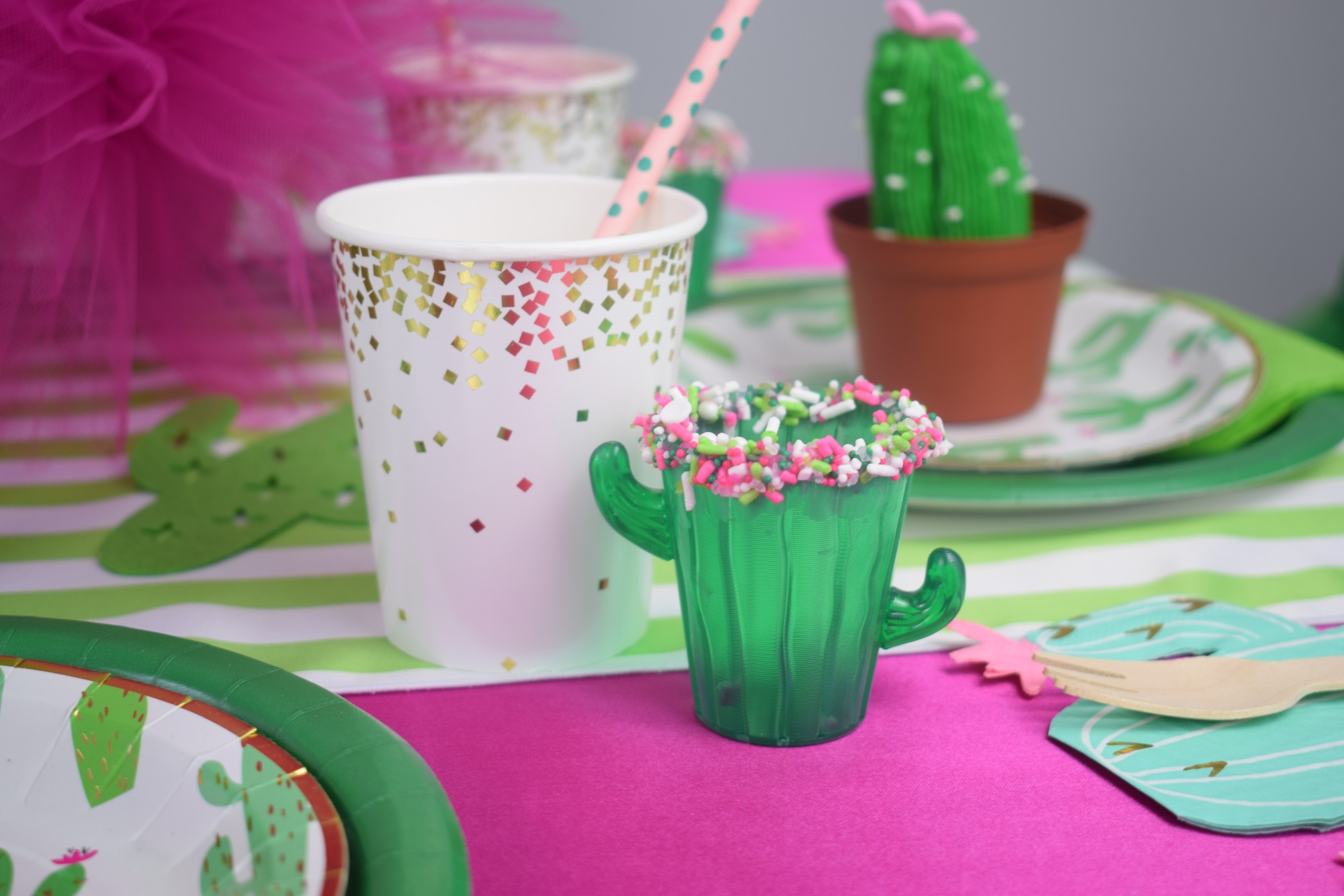 Cups from Cactus Cutie Party Styled by A Party Made Perfect | Black Twine