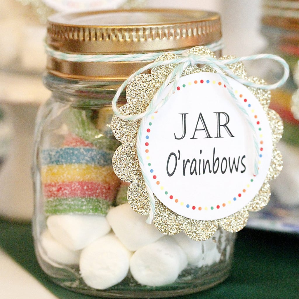 Rainbow - St. Patrick's Day Favor Tag - PRINTABLE - INSTANT download by A Lovely Design