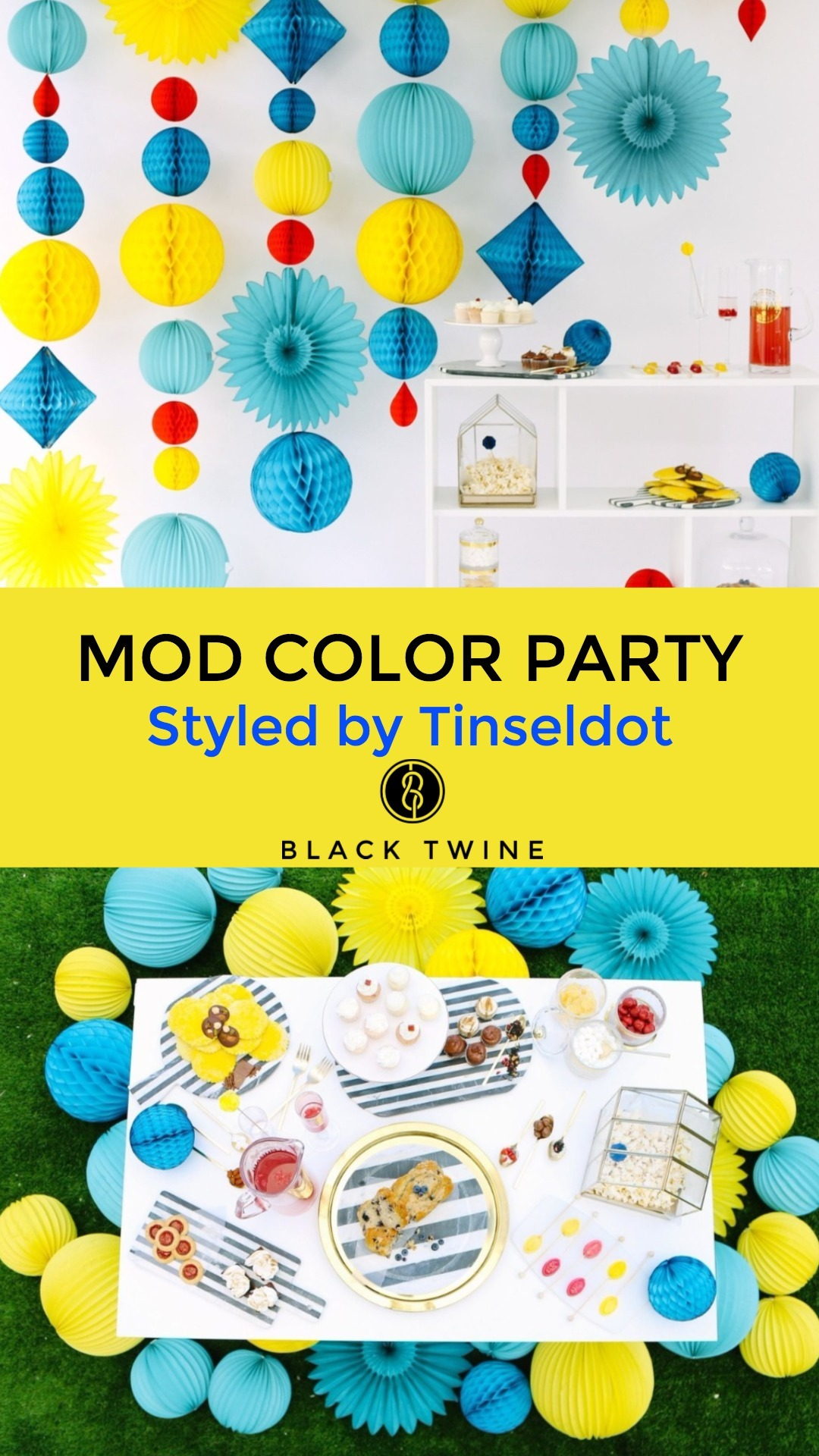 Mod Color Party Styled by Tinseldot | Black Twine