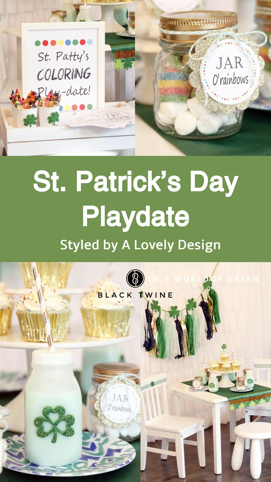 St. Patrick's Day Play Date styled by A Lovely Design | Black Twine