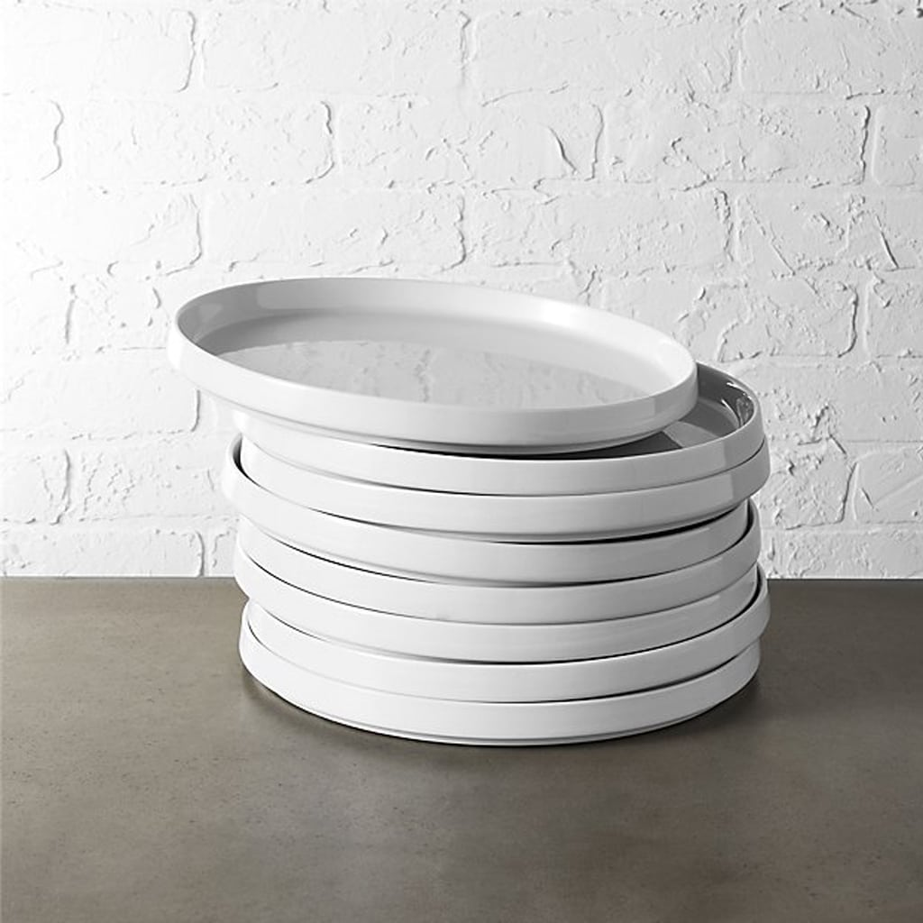set of 8 frank dinner plates by CB2