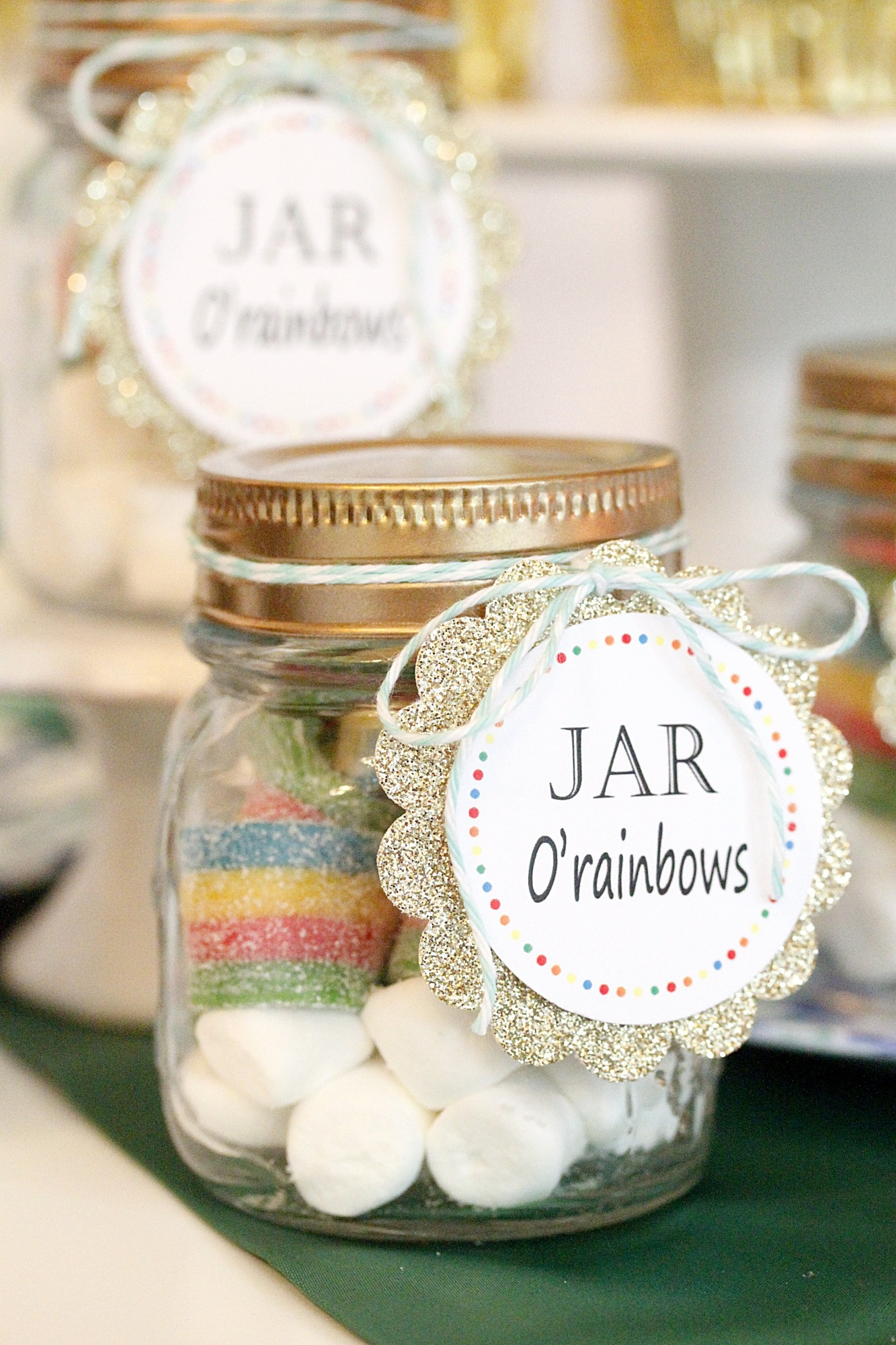 Jar O' Rainbows from St. Patrick's Day Play Date styled by A Lovely Design | Black Twine