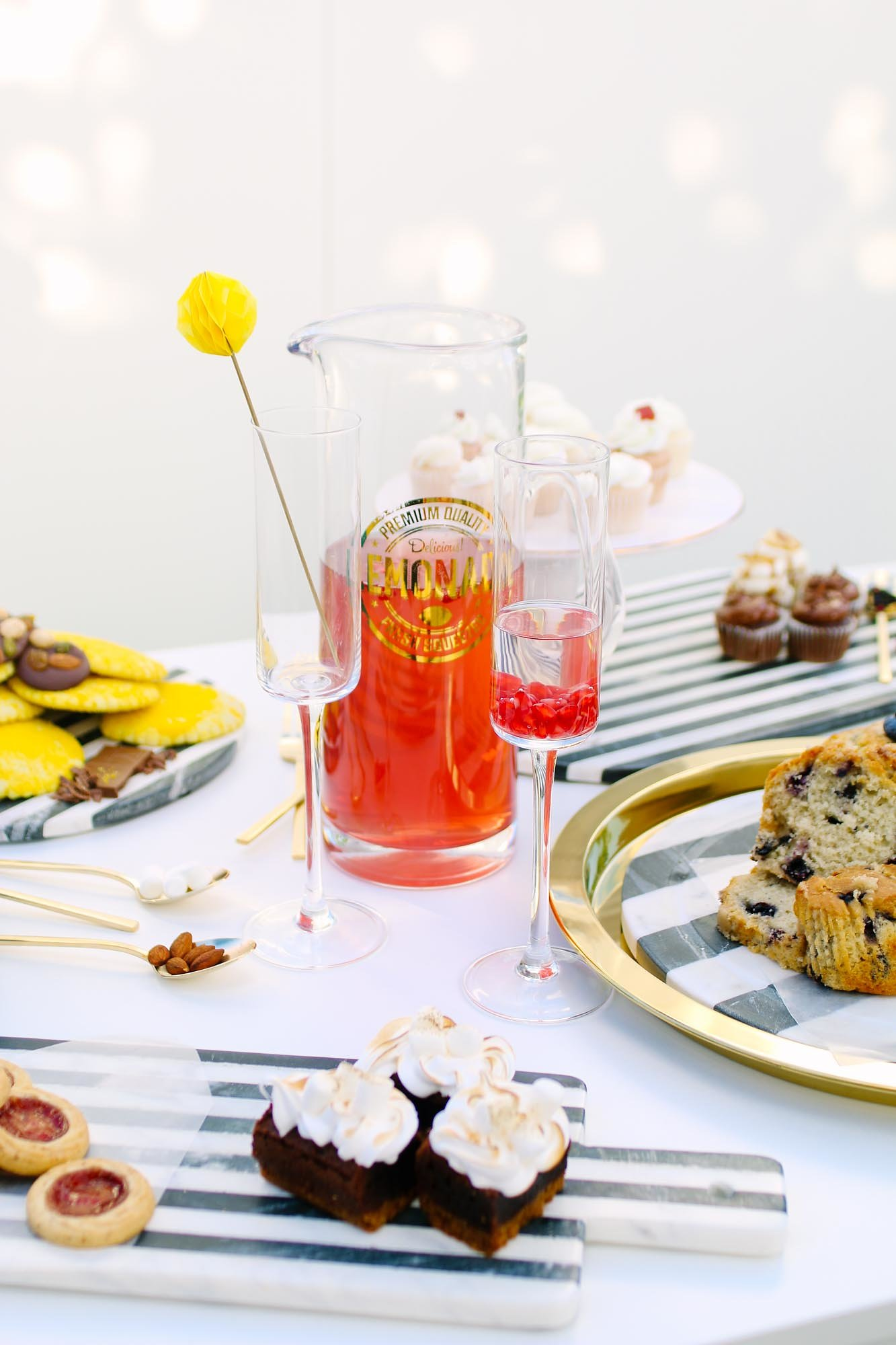 Beverage and Pitcher from Mod Color Party Styled by Tinseldot | Black Twine