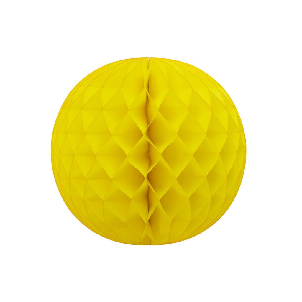 """19"""" yellow honeycomb ball"""