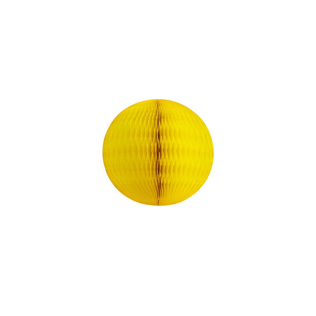 "5"" yellow honeycomb ball"