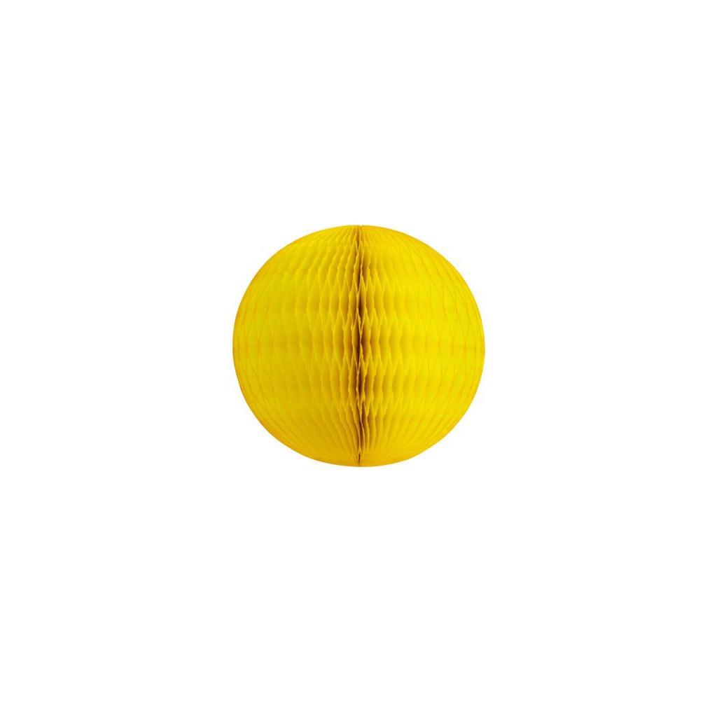 """5"""" yellow honeycomb ball"""