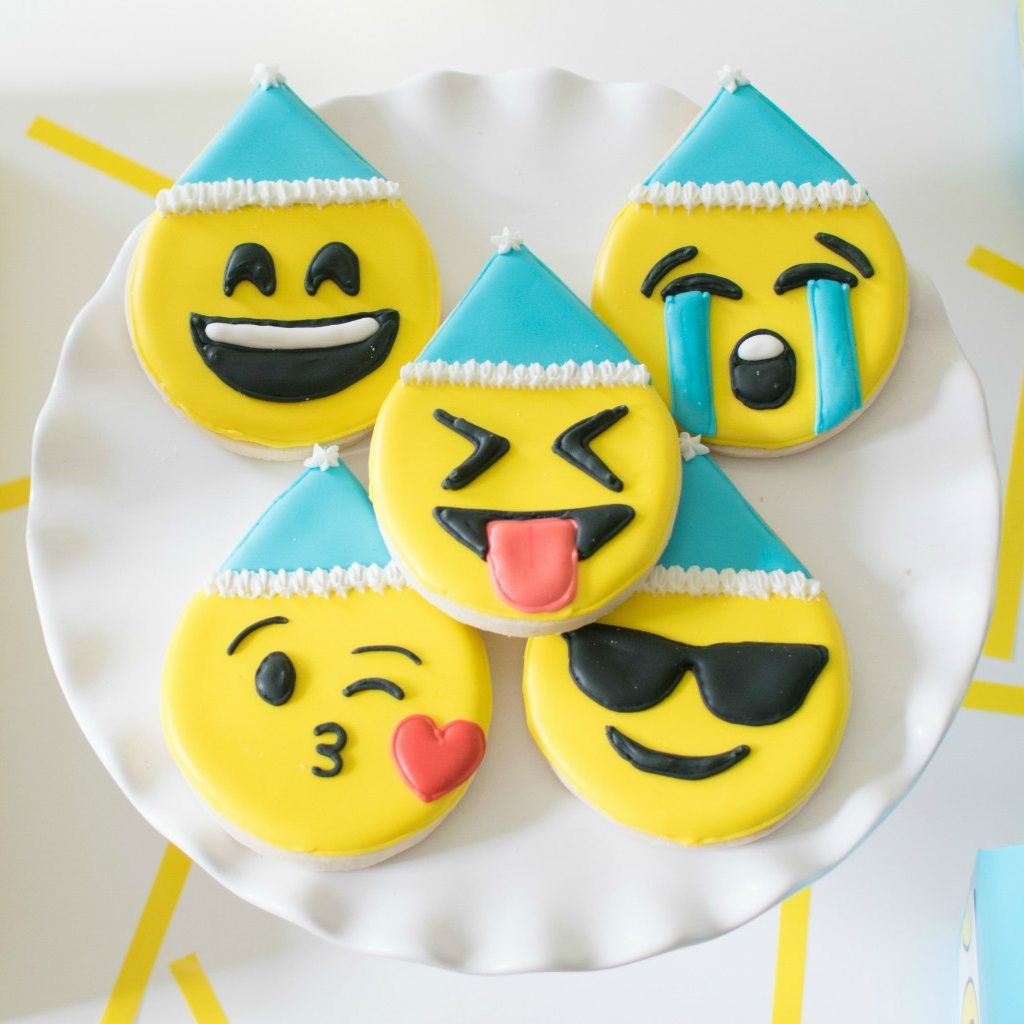 birthday emoji sugar cookies xobakes