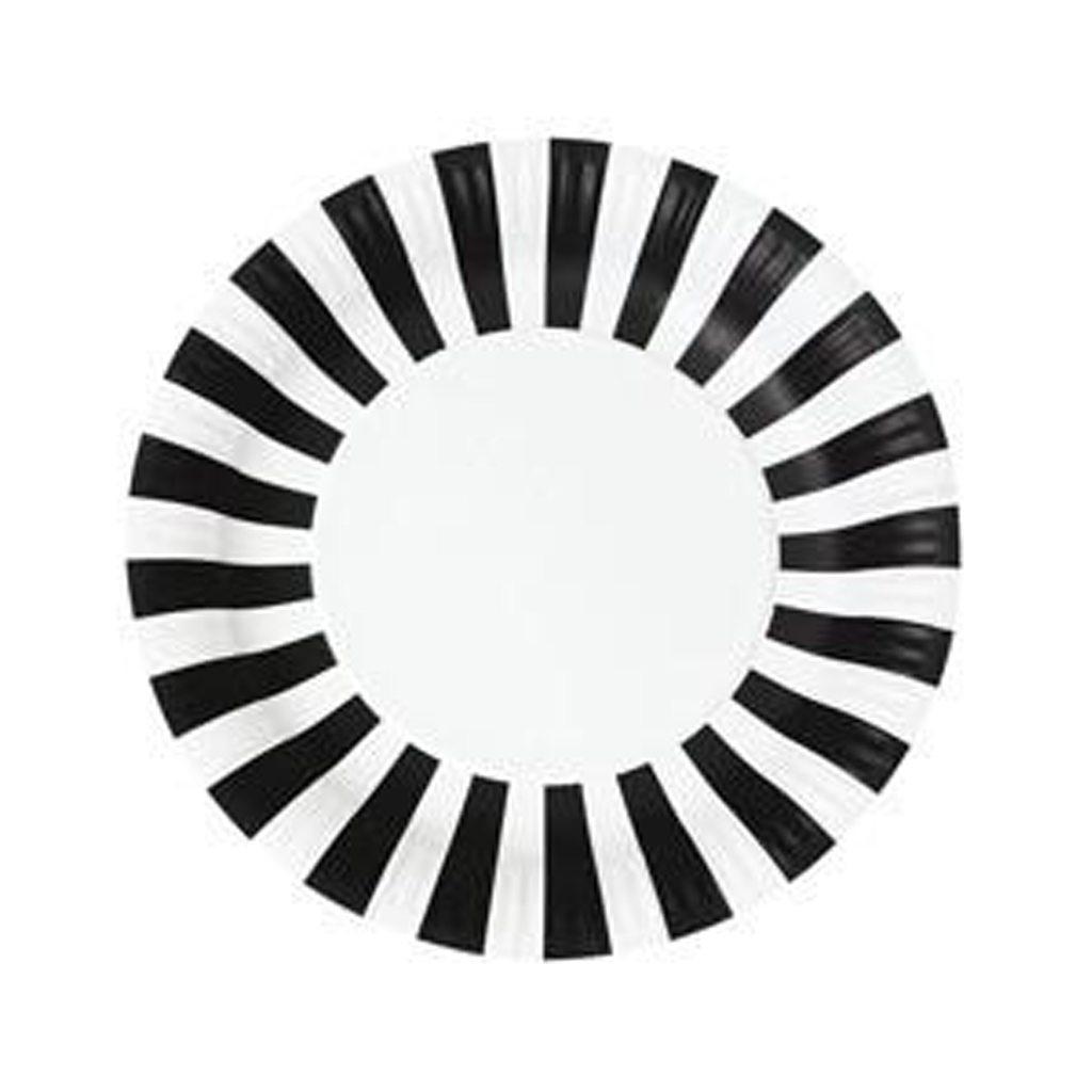 Paper Plates Black Tie 12pc