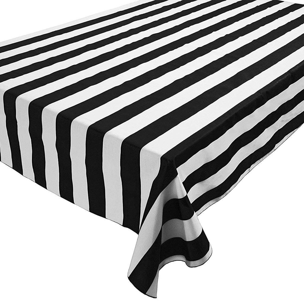lovemyfabric Black & White Striped Tablecloth