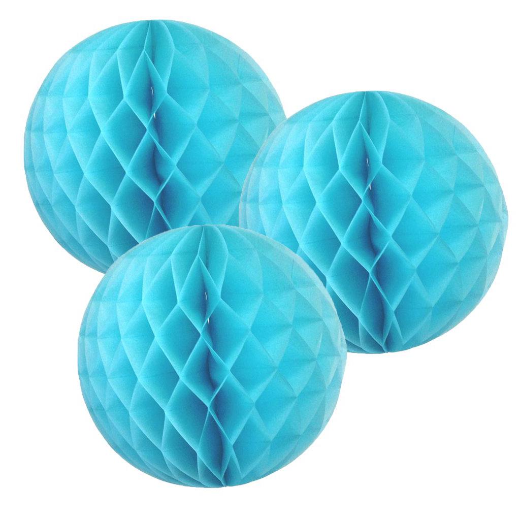 Blue Tissue Honeycomb Balls