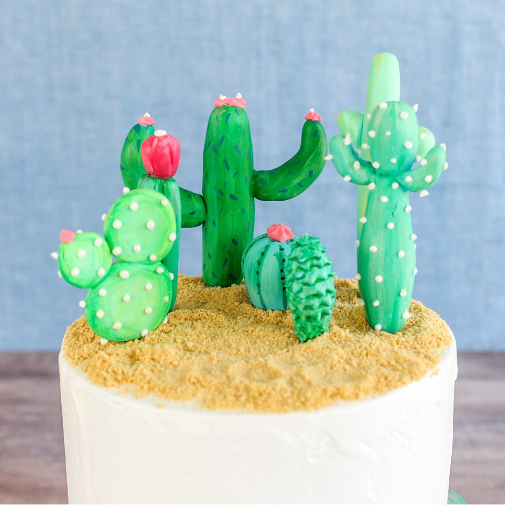 Cactus Cake and Cupcake Toppers by Confection Deception