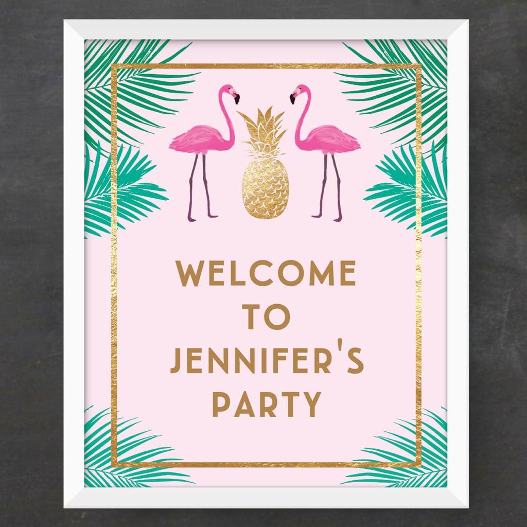 Custom Party Sign (DIY Printable)