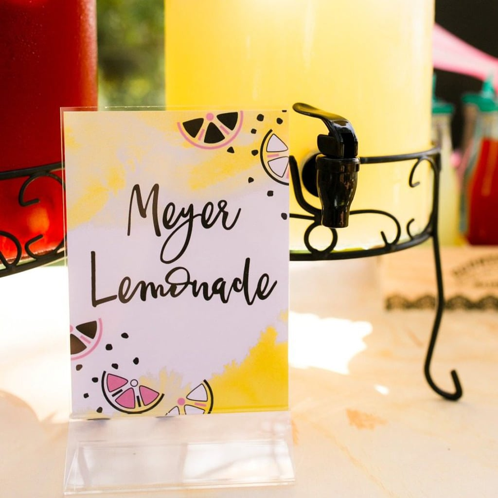 DIY Printable Food and Beverage Signs | Midnight Confetti