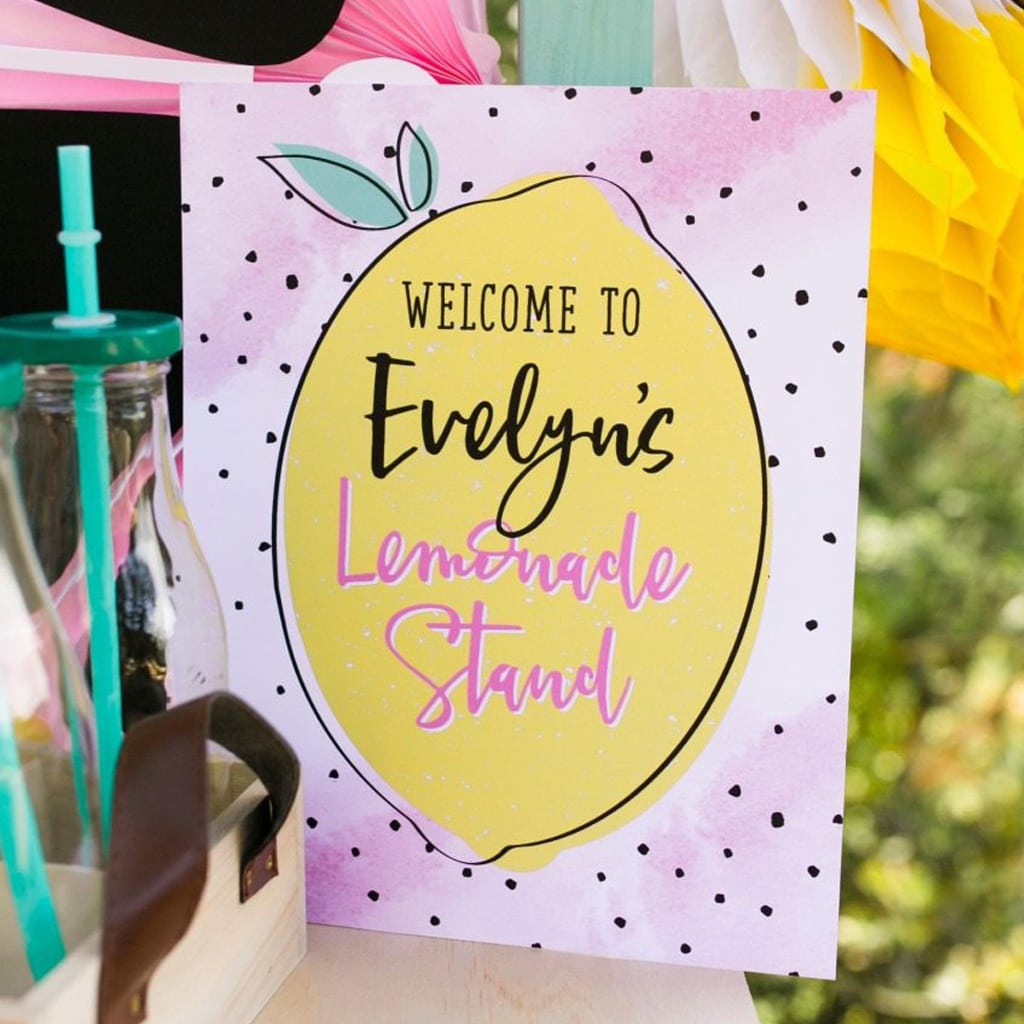 diy printable welcome lemonade stand sign | midnight confetti