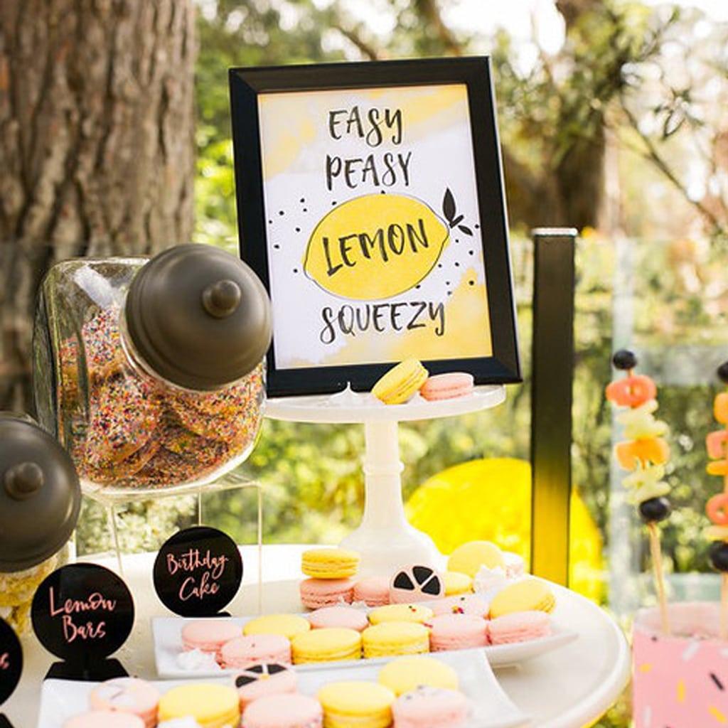 Easy Peasy Lemon Squeezy Printable Sign | Midnight Confetti
