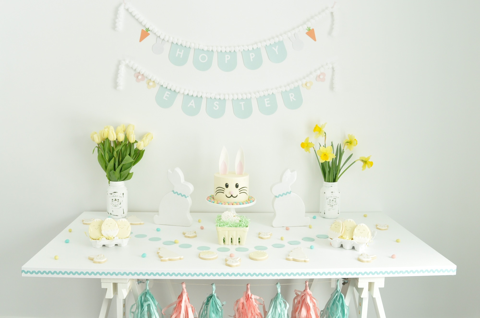 Easter Dessert Table from Easter Egg Painting Party Styled by Enchanted Parties Montreal | Black Twine