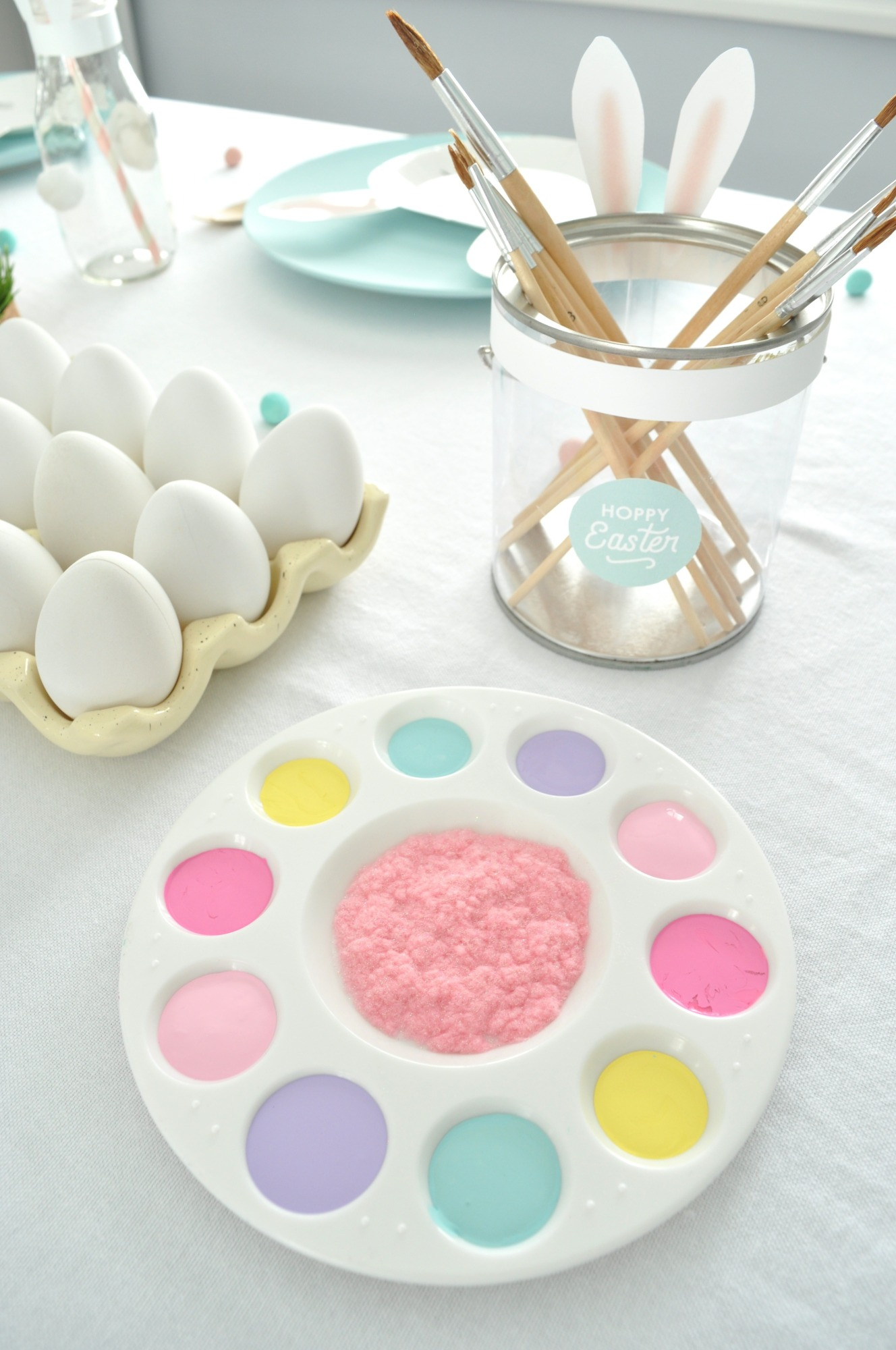 Easter Egg Decorating Painting from Easter Egg Painting Party Styled by Enchanted Parties Montreal | Black Twine