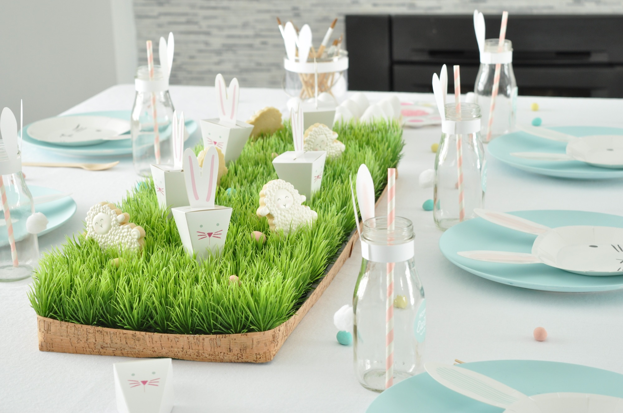 Easter Table from Easter Egg Painting Party Styled by Enchanted Parties Montreal | Black Twine