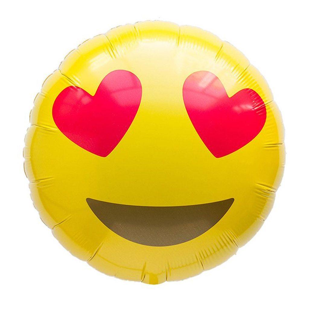 emoji heart eyes balloon northstar balloons