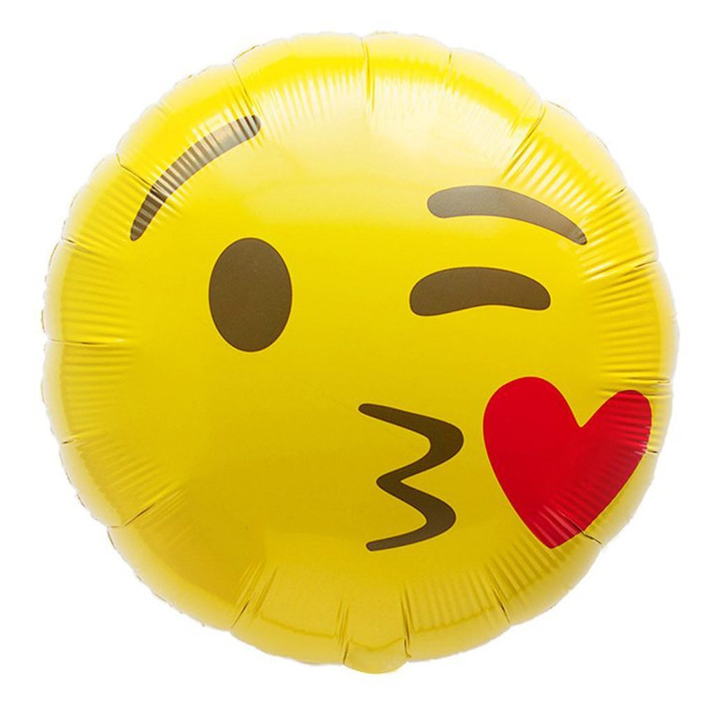 emoji kissing balloon northstar balloons