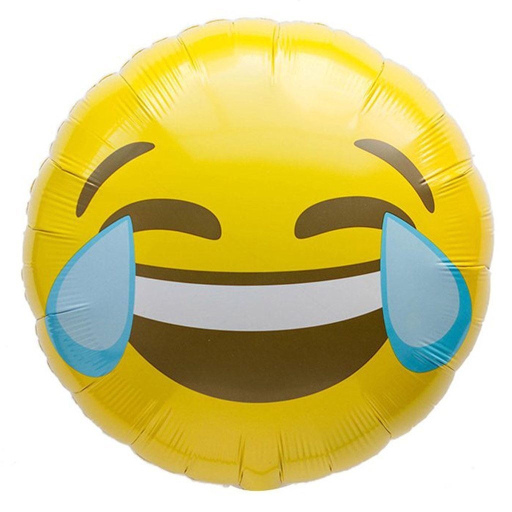 emoji crying laughing balloon northstar balloons