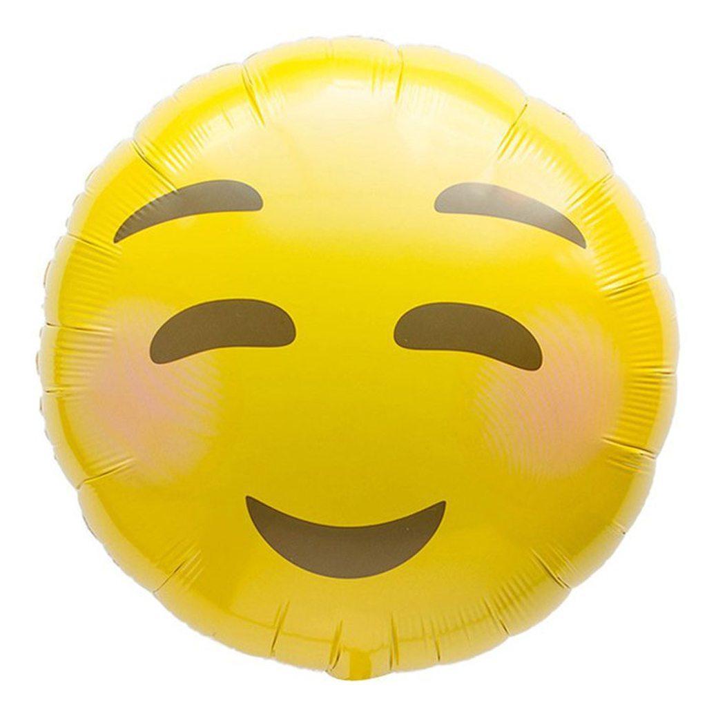 emoji blushing balloon northstar balloons