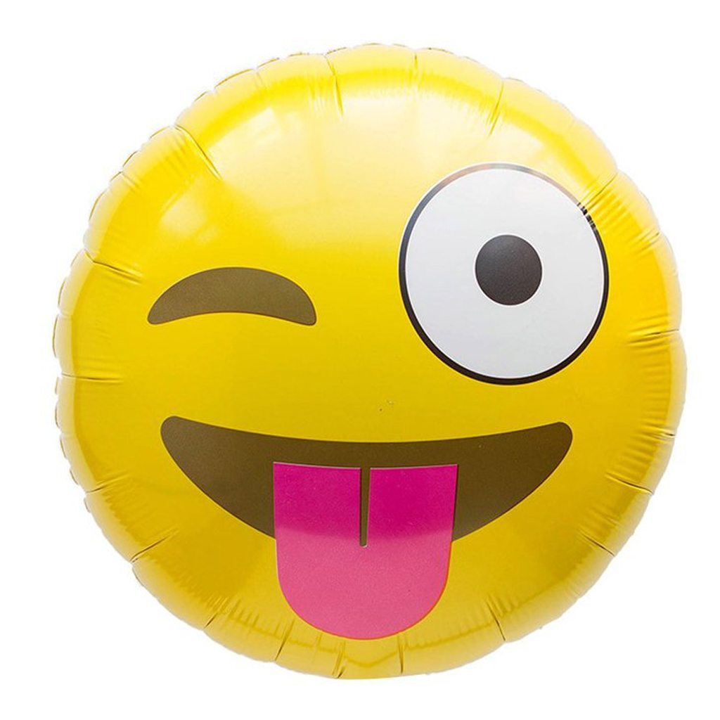 emoji winking balloon northstar balloons