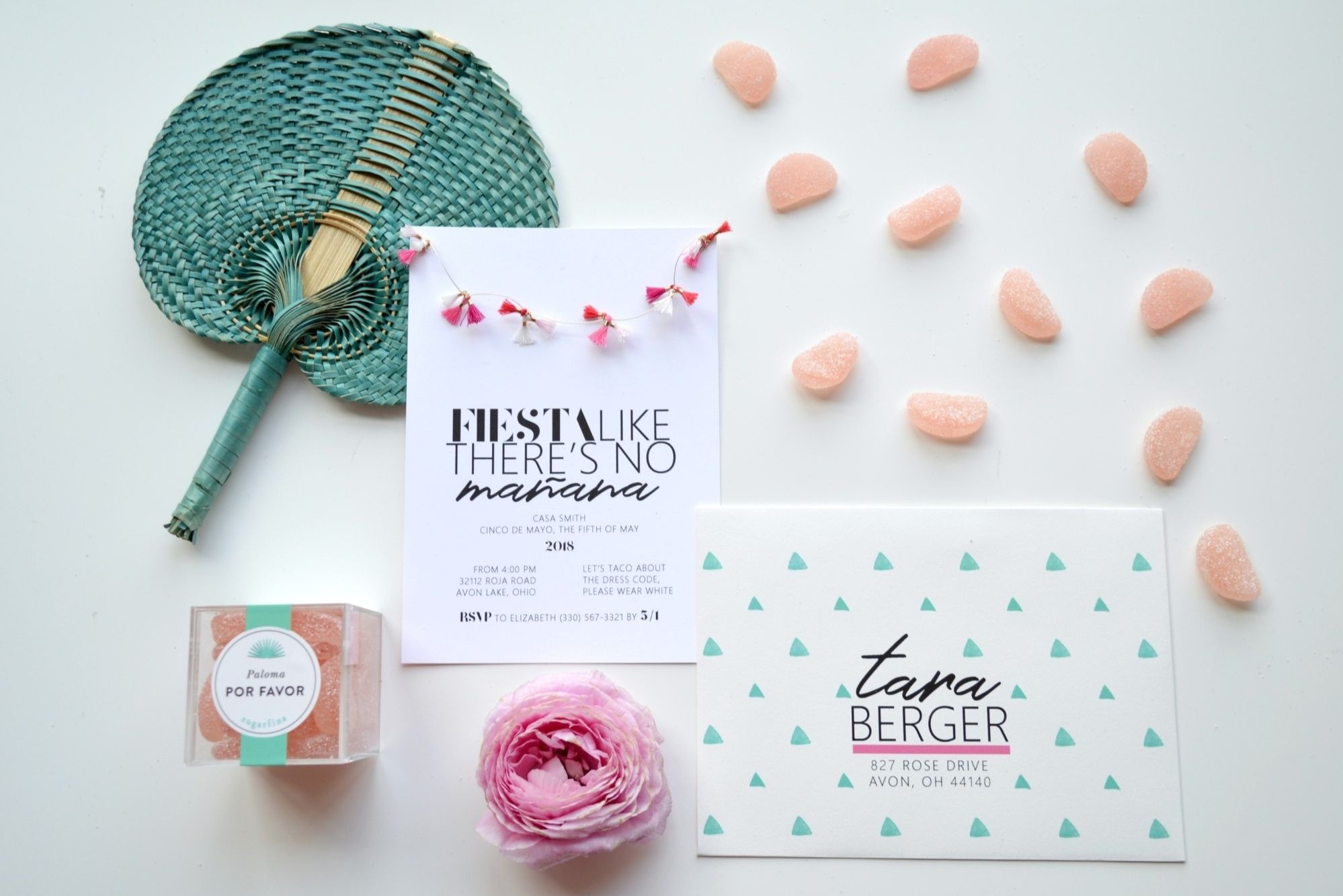 Invitation from Chic Floral Fiesta Styled by One Stylish Party | Black Twine