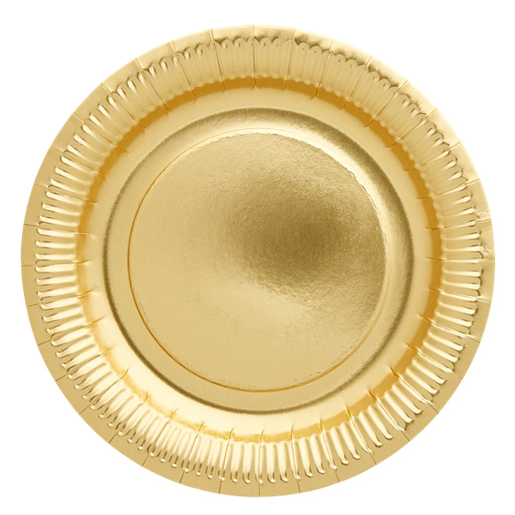gold foil round plates chargers