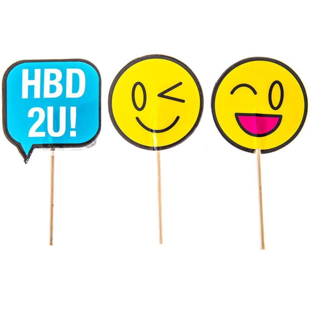 HB2U! Emoji Cupcake Toppers Hobby Lobby