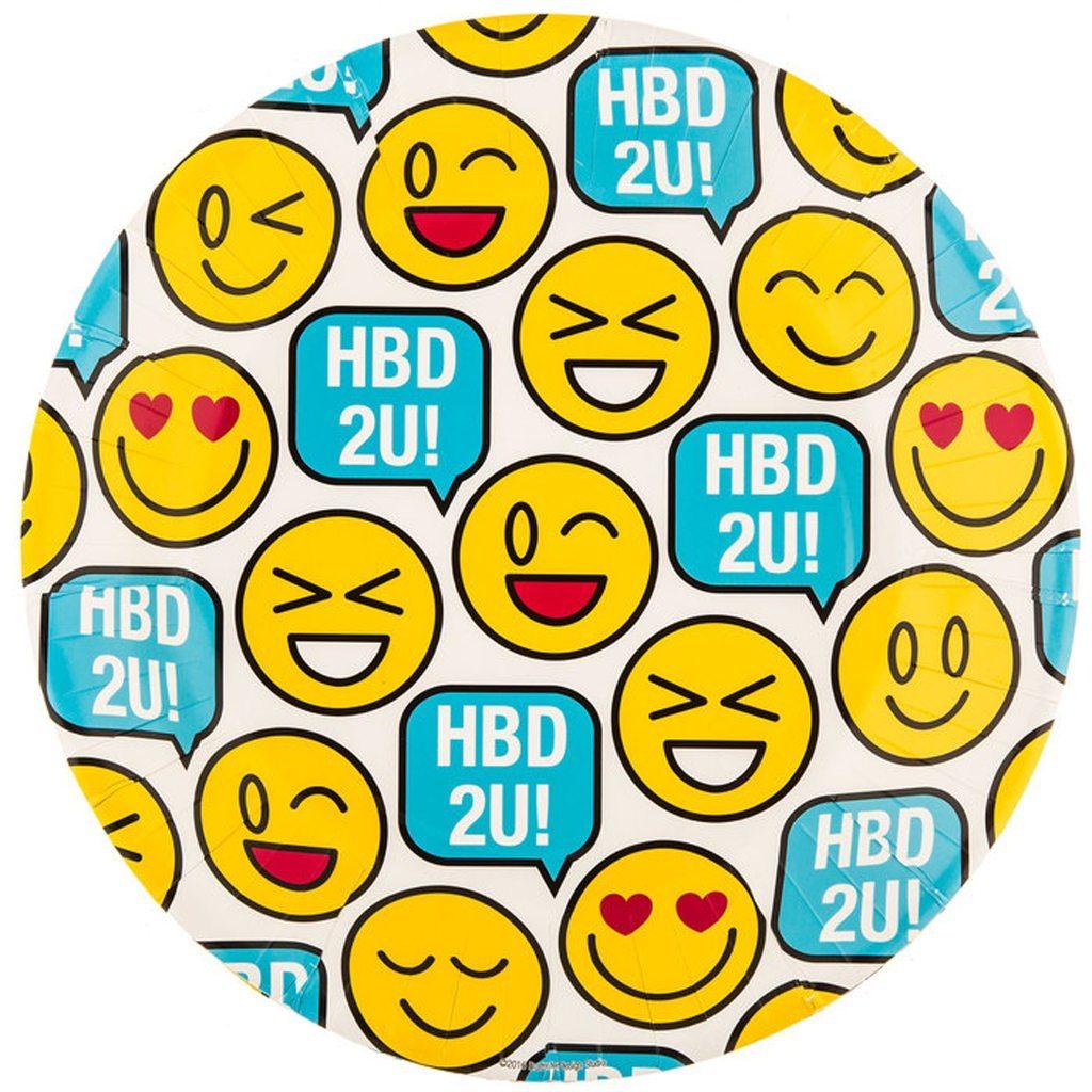 HBD2U! Emoji Plates Hobby Lobby