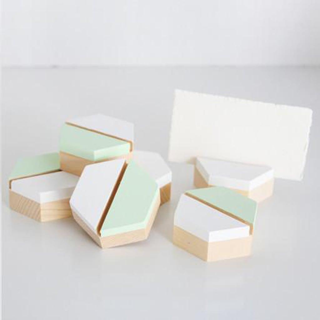 hexagonal place card holder
