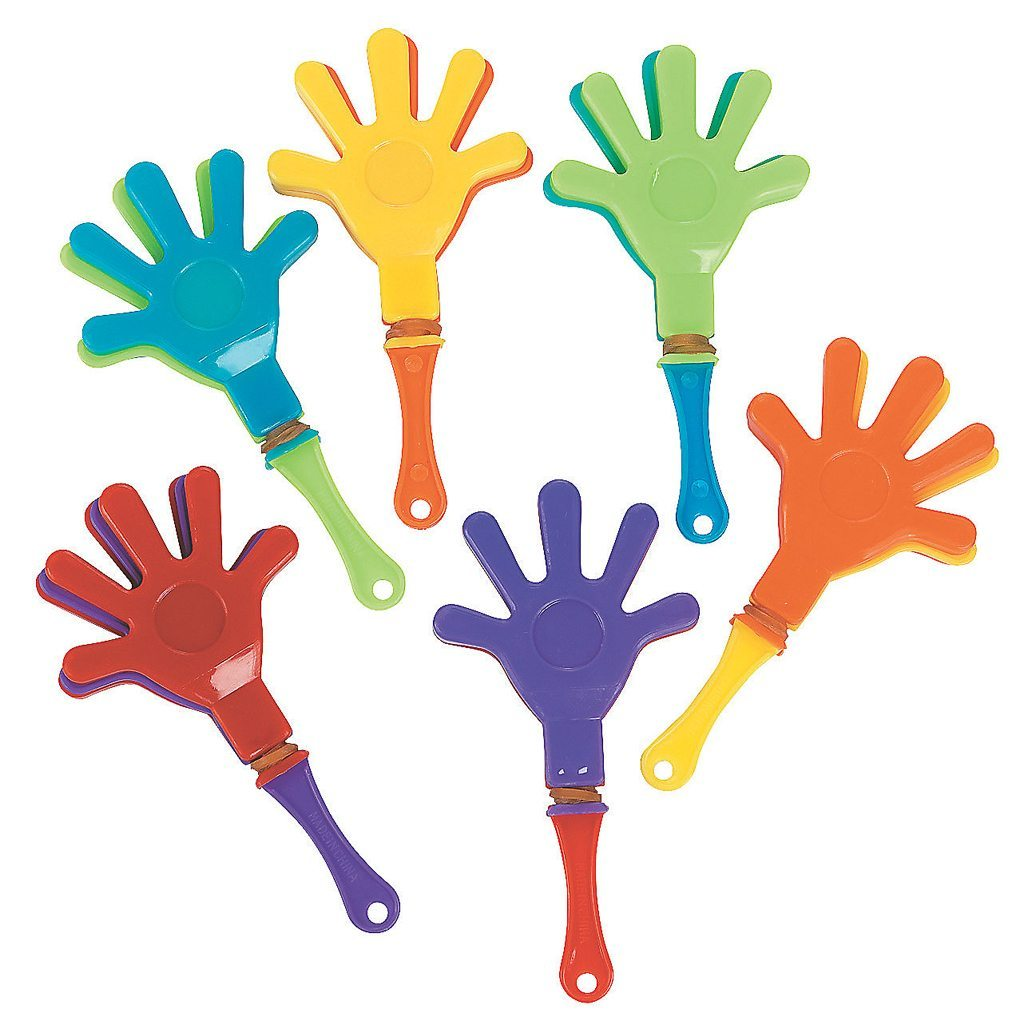 mini hand clappers oriental trading