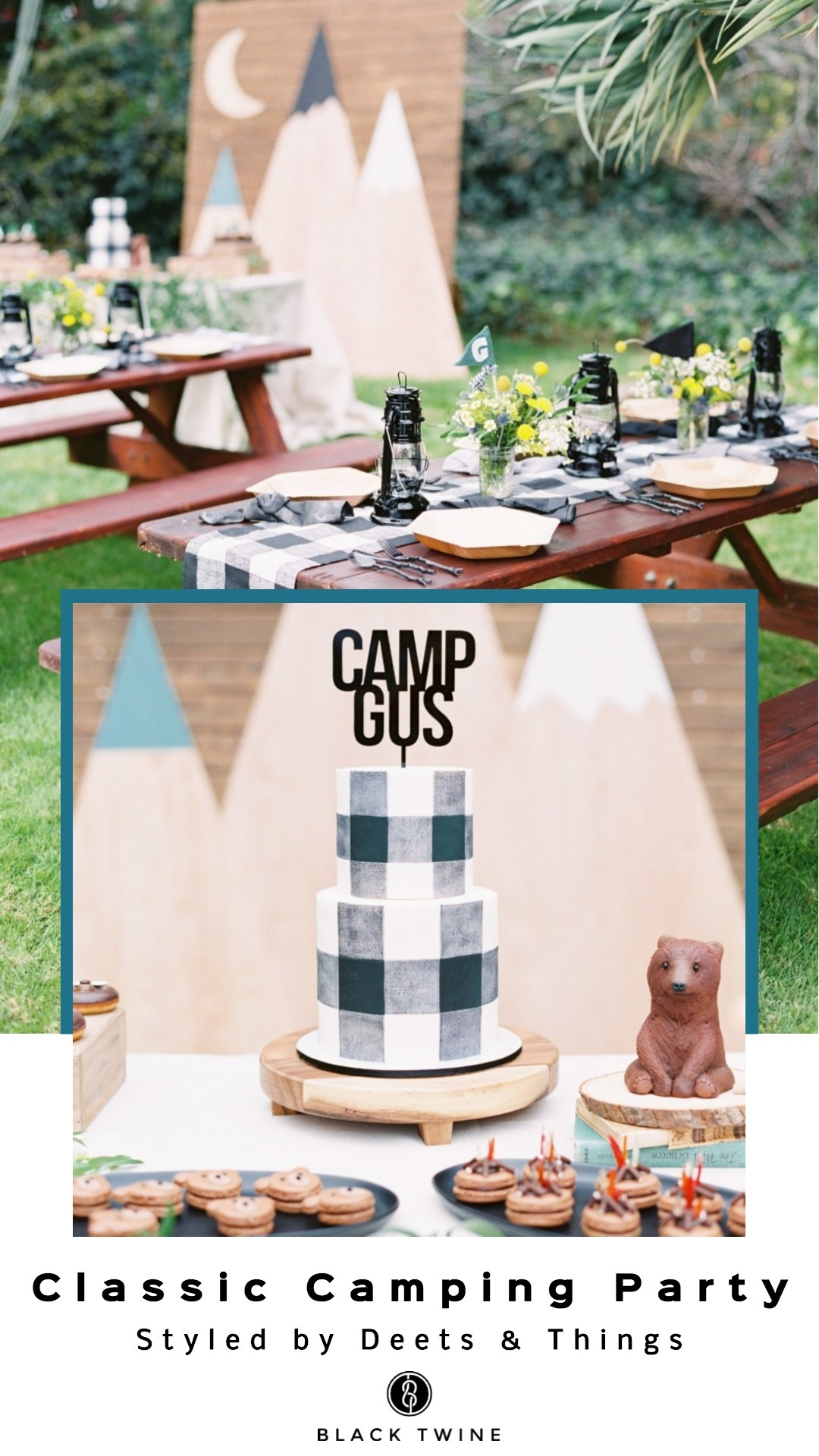 How to Host a Classic Camping Party Styled by Deets & Things | Black Twine