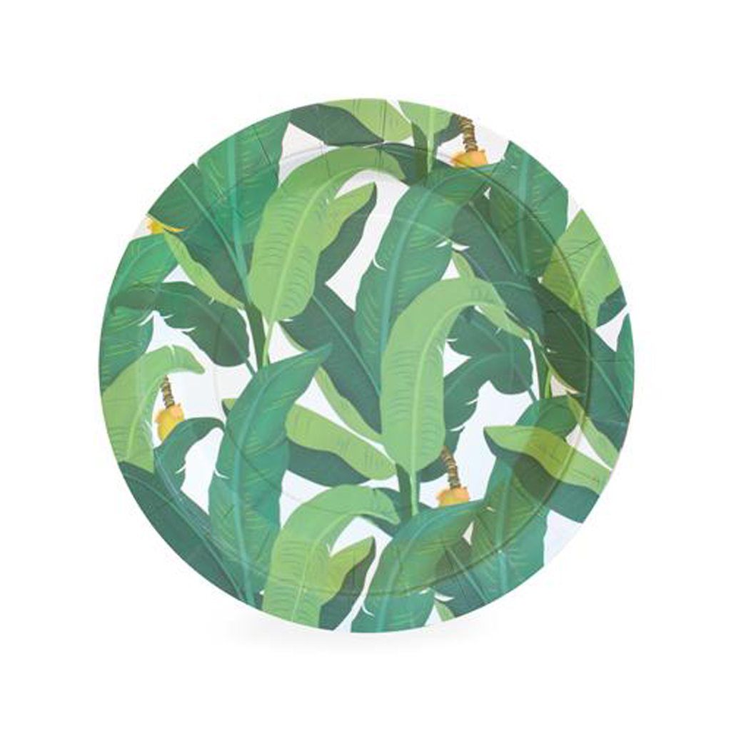 Dessert Plate Tropical Leaf 12 ct