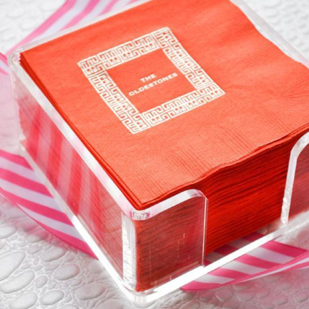 LUCITE COCKTAIL NAPKIN HOLDER by Emily McCarthy