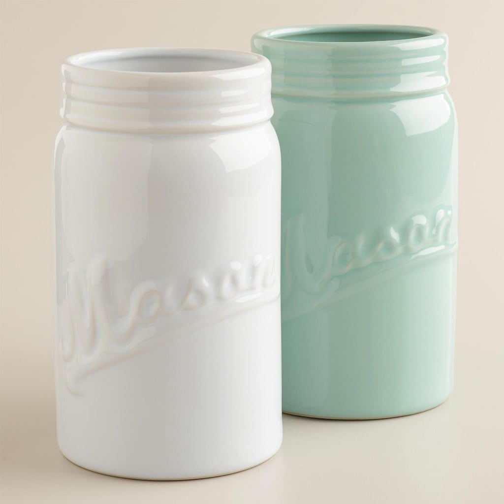 Large Mason Jar Vases, Set of 2 - Cost Plus World Market