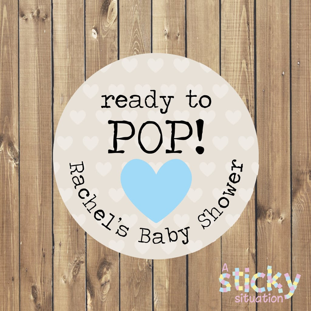 Personalized Ready To Pop Stickers Black Twine