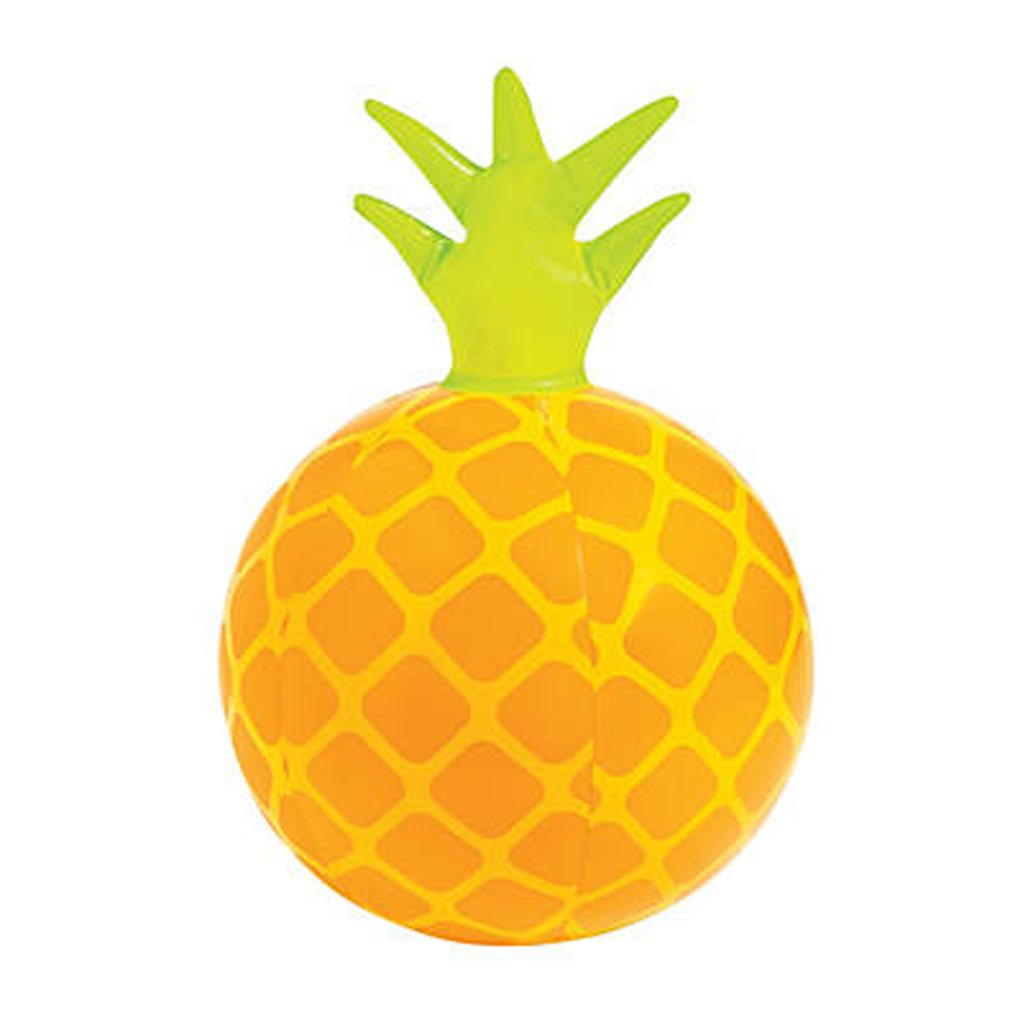 Inflatable pineapple beach balls oriental trading