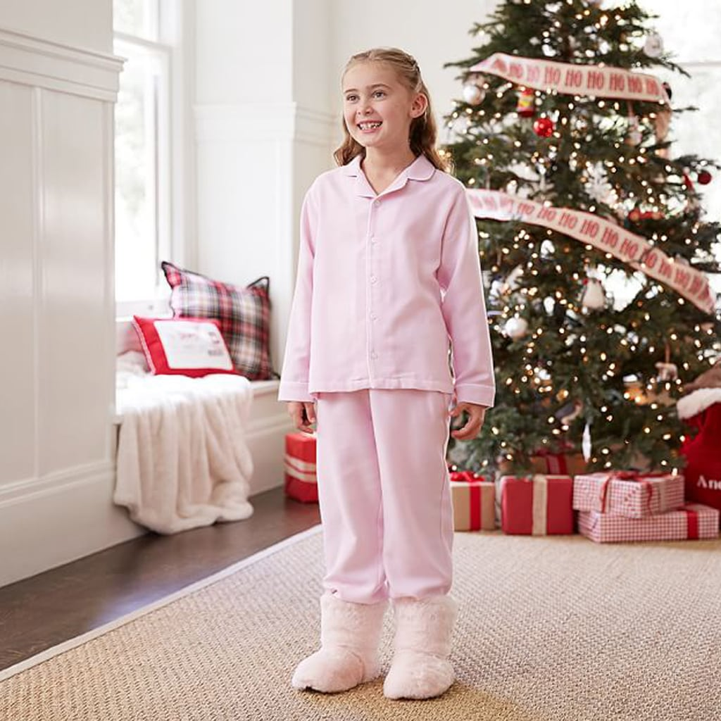 Pink Flannel Pajamas from Pottery Barn Kids