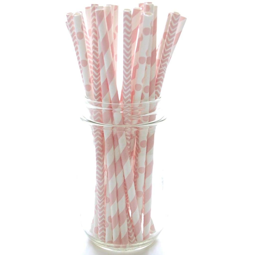 Pink & White Straws