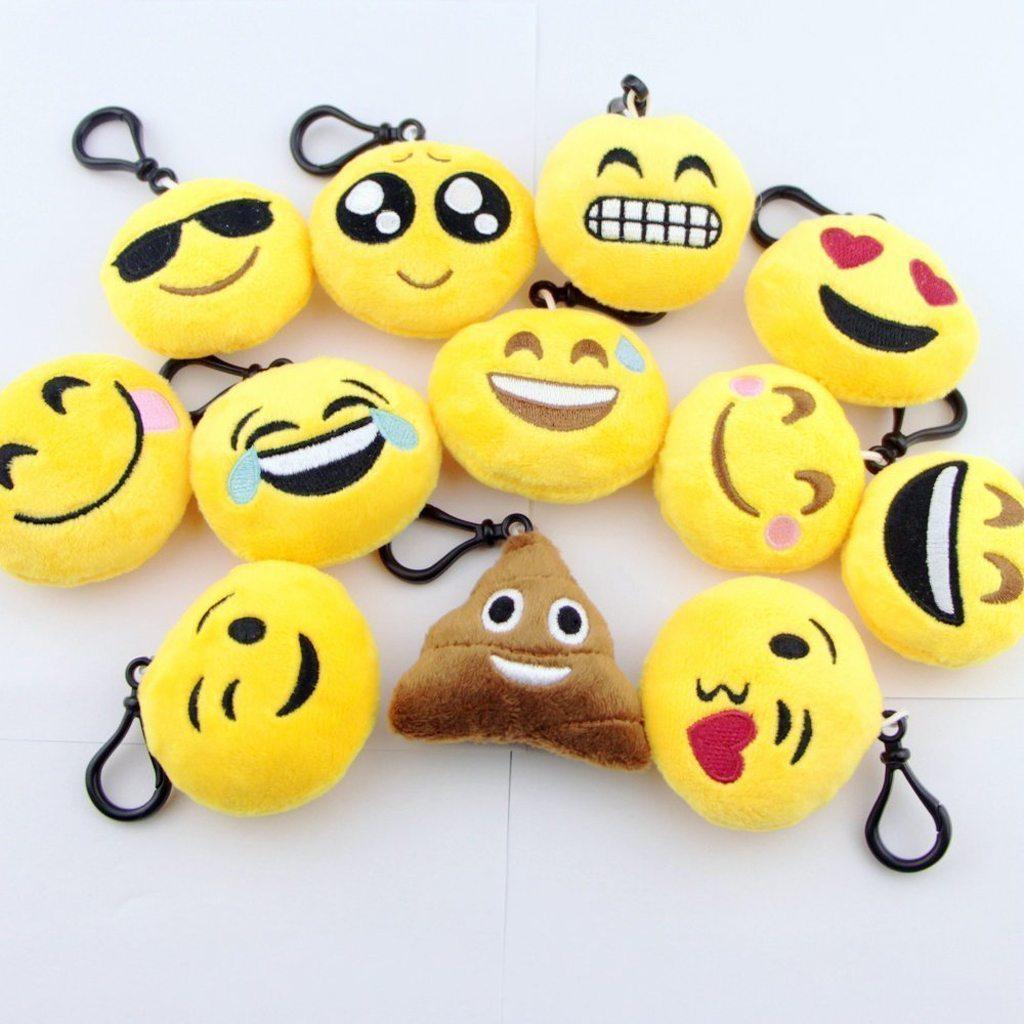 plush emoji keychain