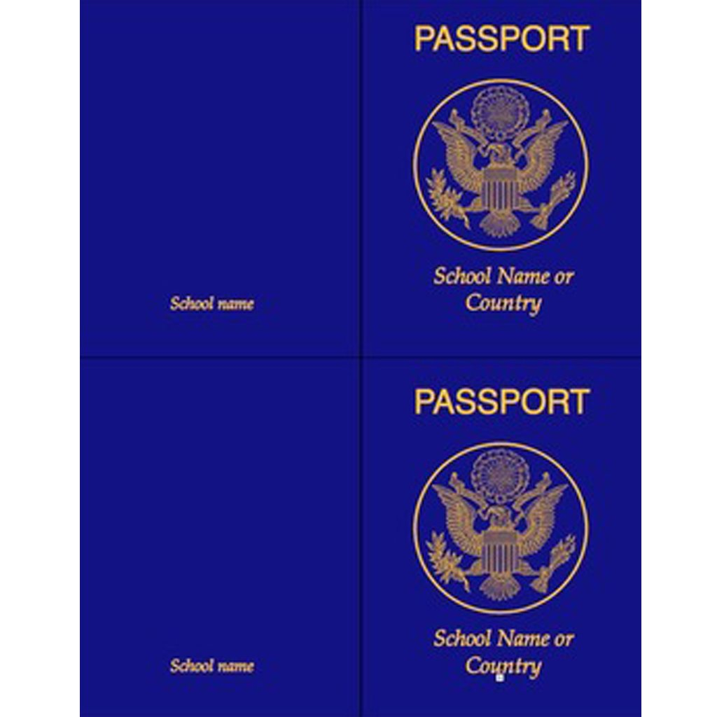 image regarding Passport Printable named PRINTABLE PASSPORT Black Cord