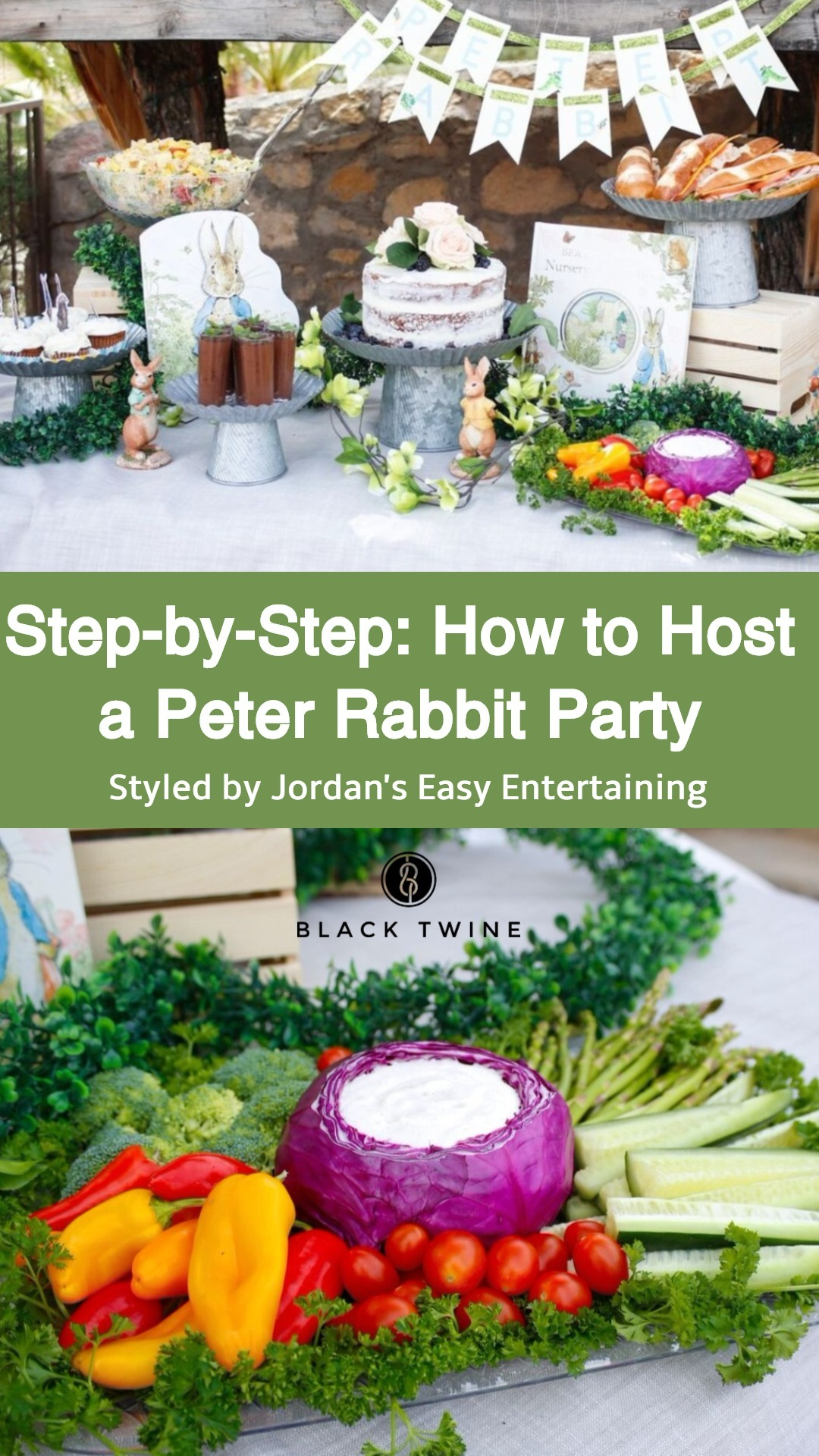 Step by step guide to planning a Peter Rabbit party with Jordan's Easy Entertaining