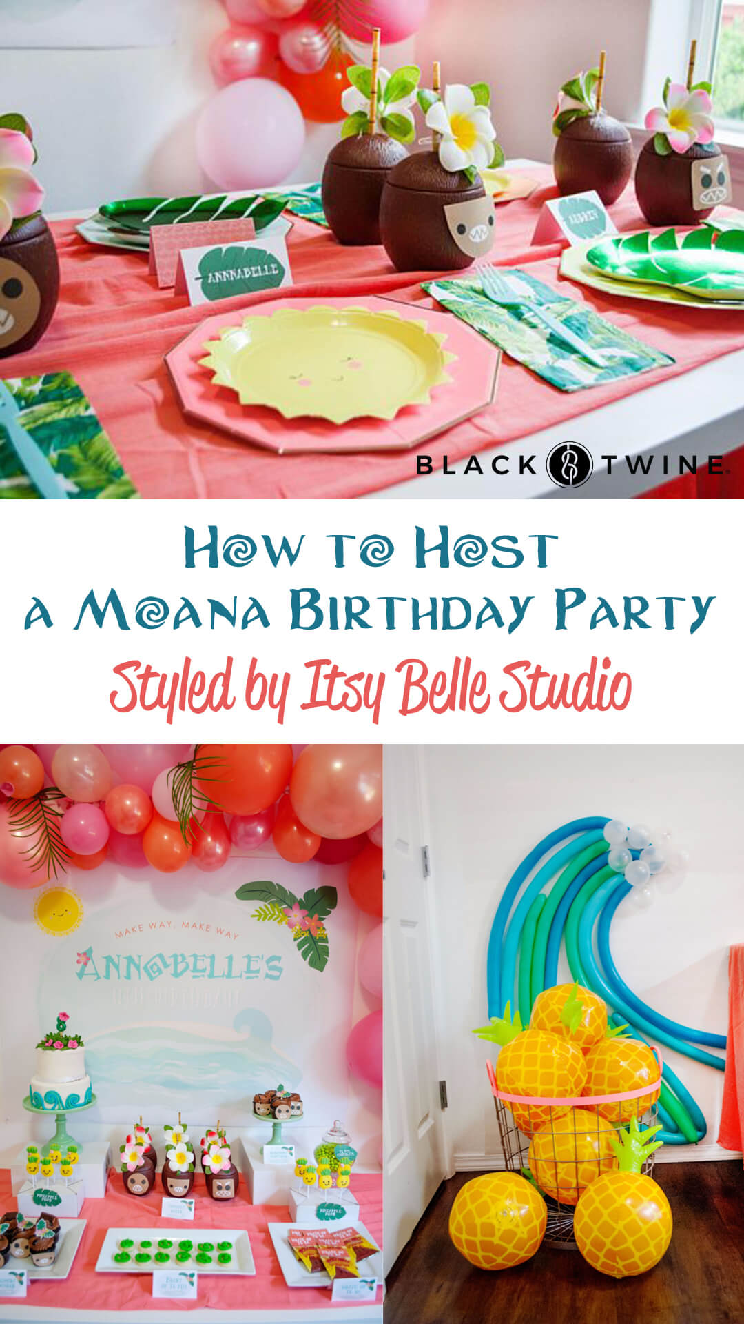Photos from Moana Birthday Party by Itsy Belle Studio | Black Twine