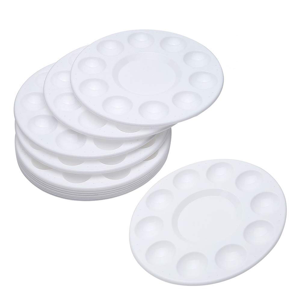 10-Pack White Round Artist Palettes from Hobby Lobby